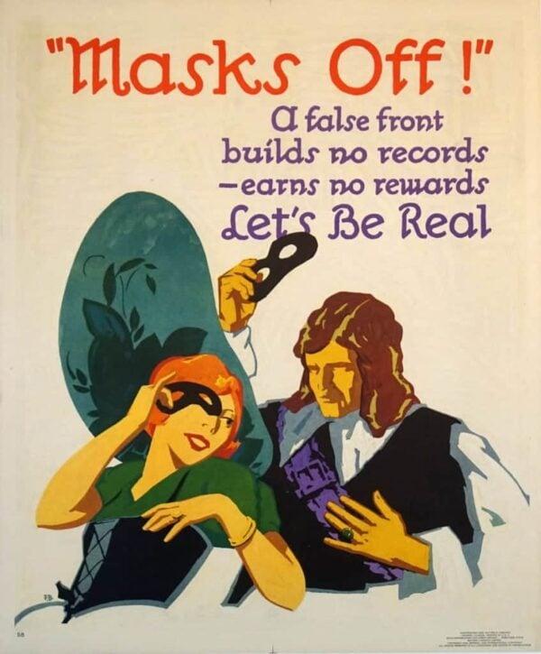 Masks Off Vintage Posters