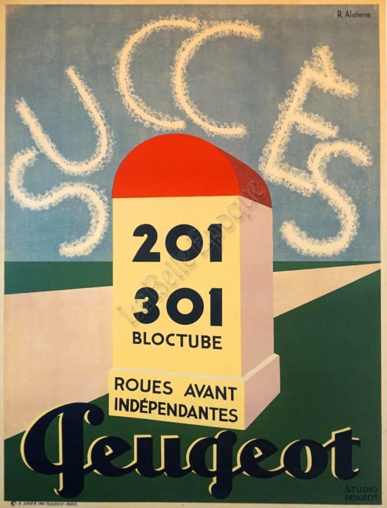 Success Peugeot Vintage Posters