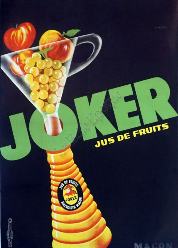 Joker Jus De Fruits Vintage Posters