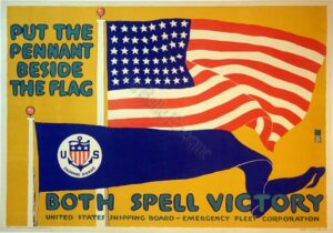 put the pennant beside the flag Vintage Posters