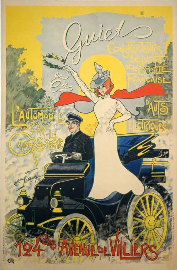 Quiet L'Automobile Vintage Posters