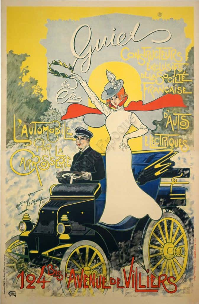 Quiet L'Automobile Vintage Posters