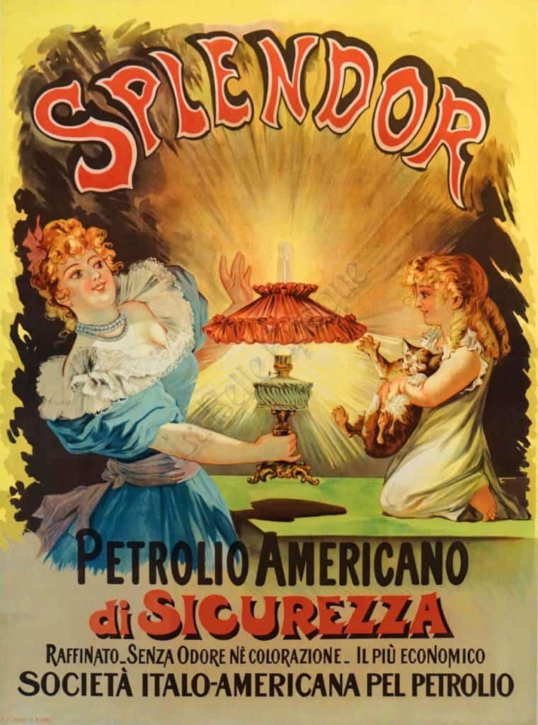 Splendor Petrolio Americano Vintage Posters