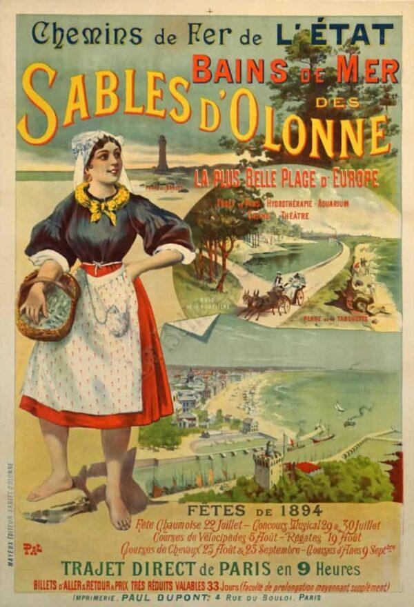 Sables D'Olonne Vintage Posters