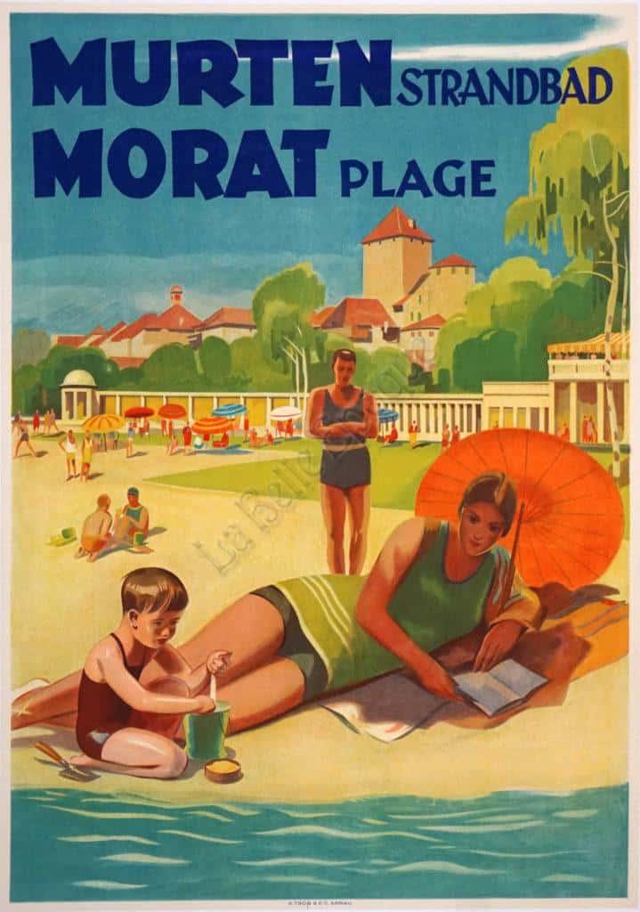 Murten Morat Vintage Posters