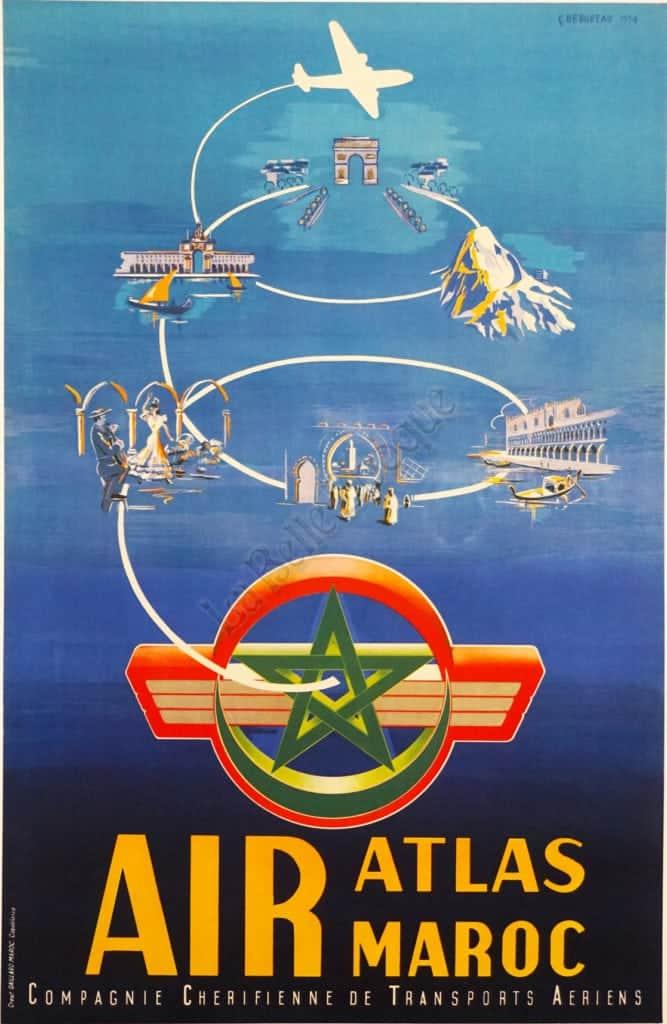 Air Atlas Maroc Vintage Posters