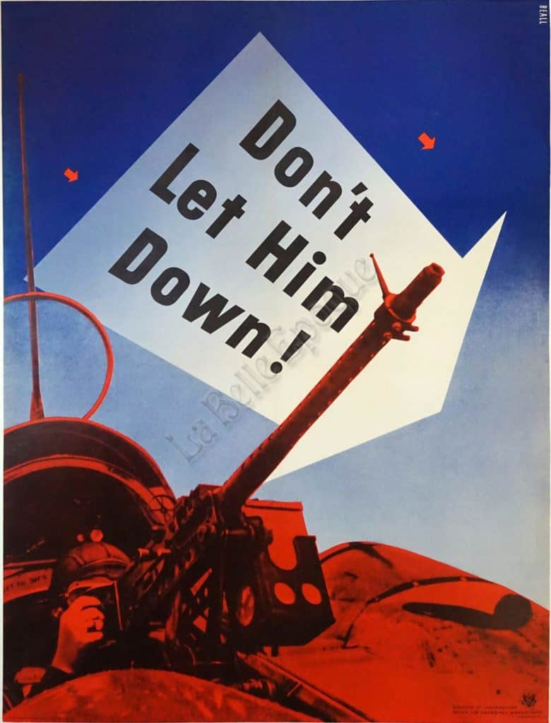 Don't Let Him Down Vintage Posters