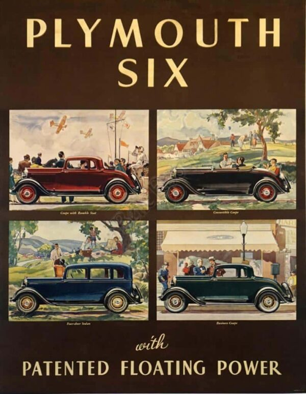 Plymouth Six Vintage Posters