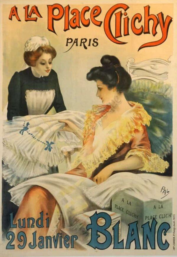 A La Place Clichy Paris Vintage Posters