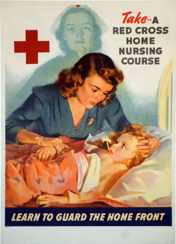 Take a Red Cross Home Nursing Course Vintage Posters
