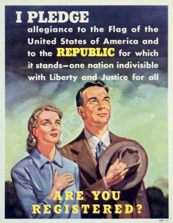 I Pledge Republic Vintage Posters