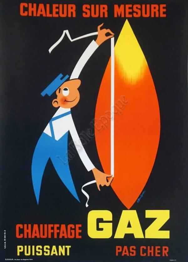 Chauffage Gaz Vintage Posters