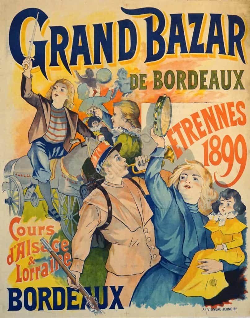 Grand Bazar de Bordeaux Vintage Posters