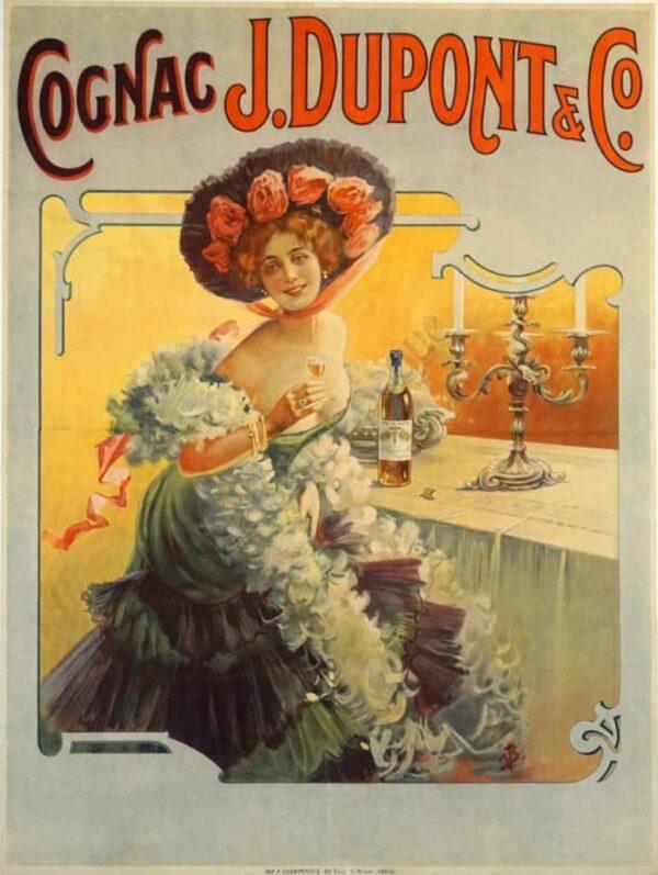 Cognac J. Dupont & Cie Vintage Posters
