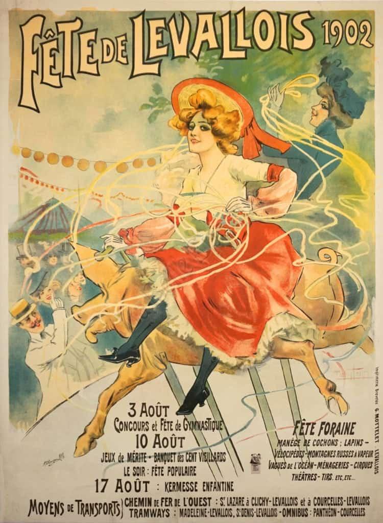 Fete De Levallois 1902 Vintage Posters