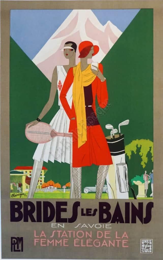 Brides Les Bains Vintage Posters