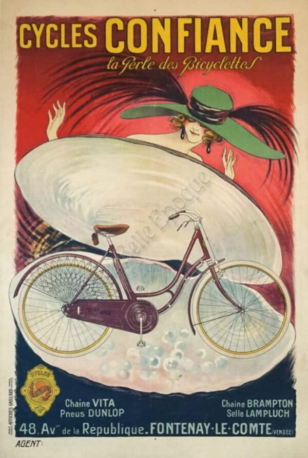 Cycles Confiance Vintage Posters