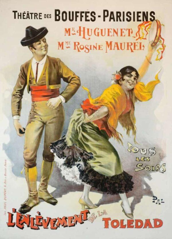 Theatre des Bouffes Parisiens Toledad Vintage Posters