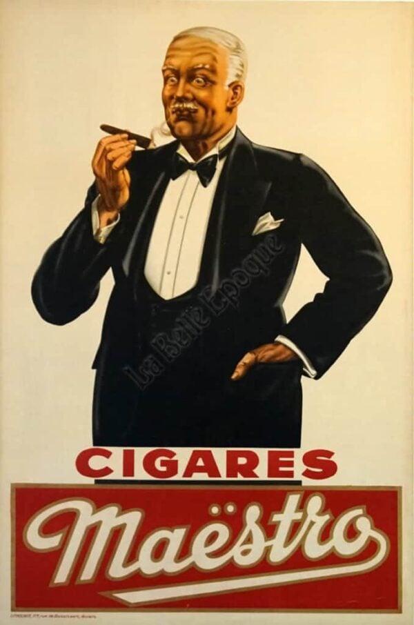 Cigares Maestro Vintage Posters