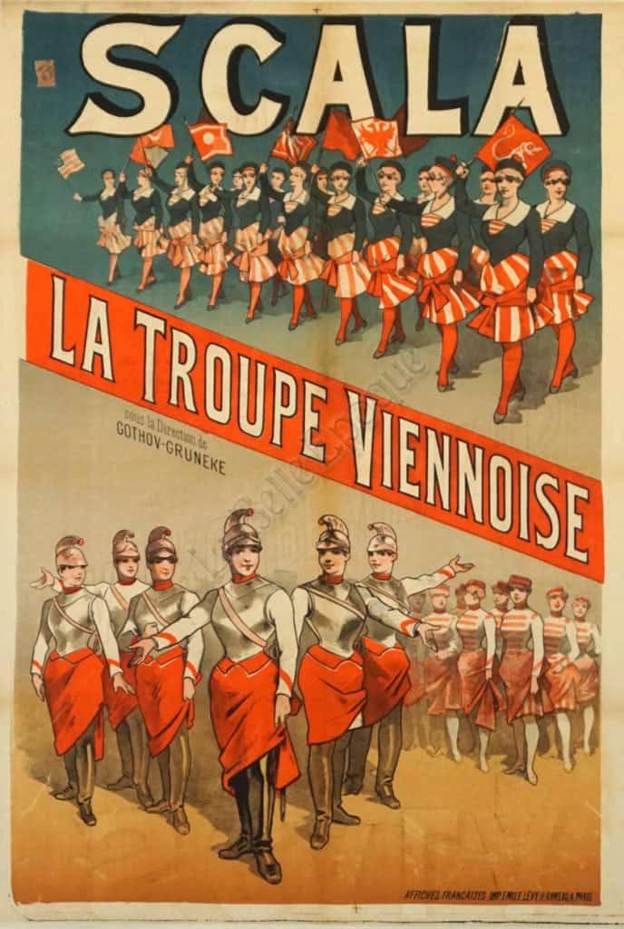 Scala La Troupe Viennoise Vintage Posters