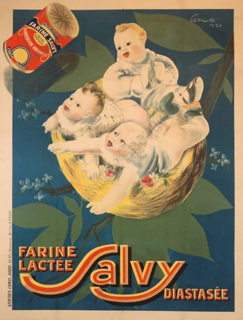 Farine Lactee Salvy Diastasee Vintage Posters