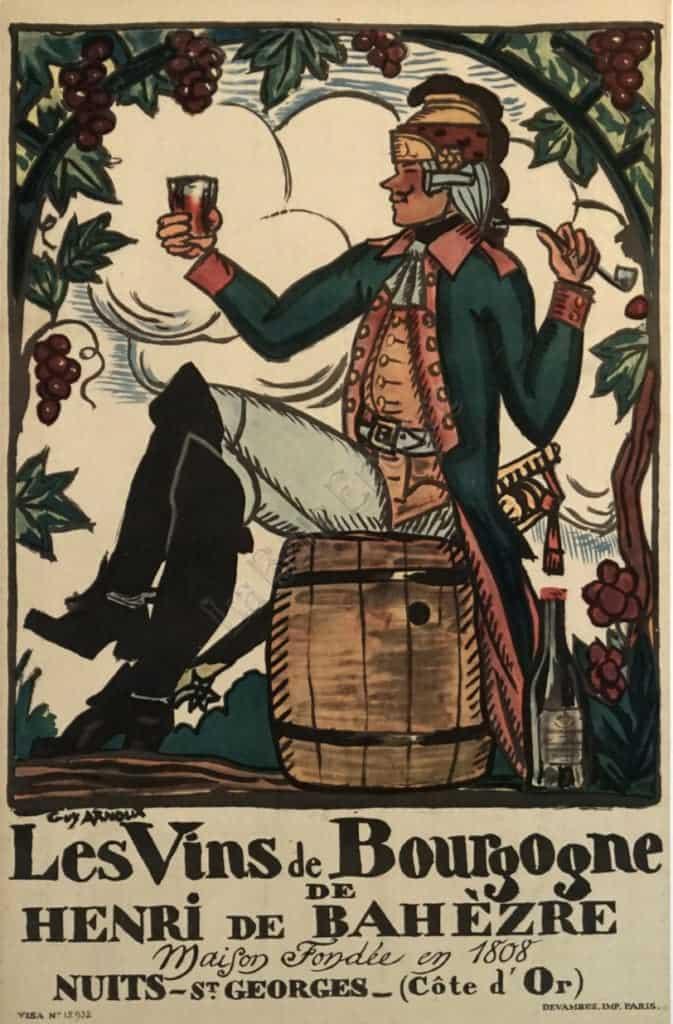 Les Vins de Bourgogne Vintage Posters