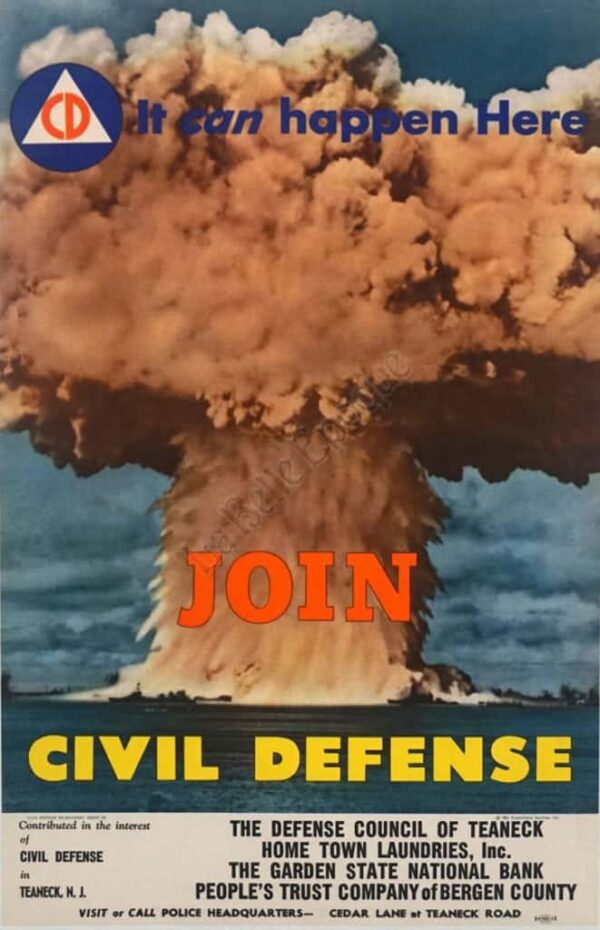 It can happen Here Join Civil Defense Vintage Posters