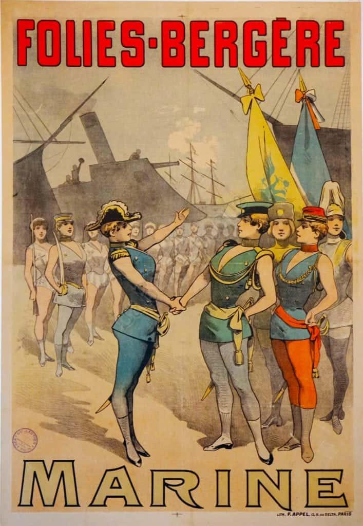 Folies Bergere Marine Vintage Posters