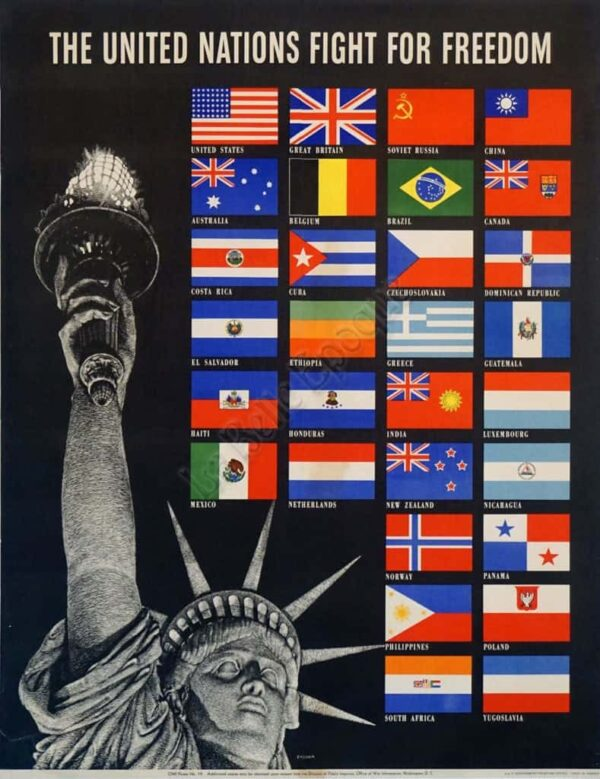 The United Nations Fight For Freedom Vintage Posters