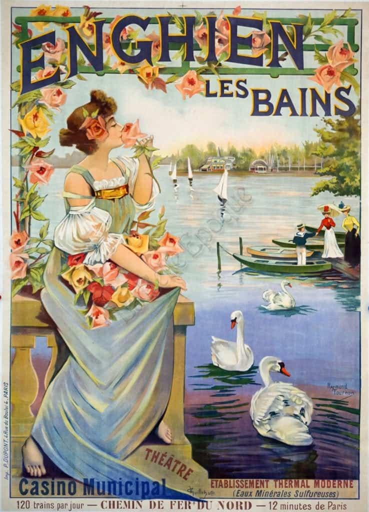 Enghien Les Bains Vintage Posters