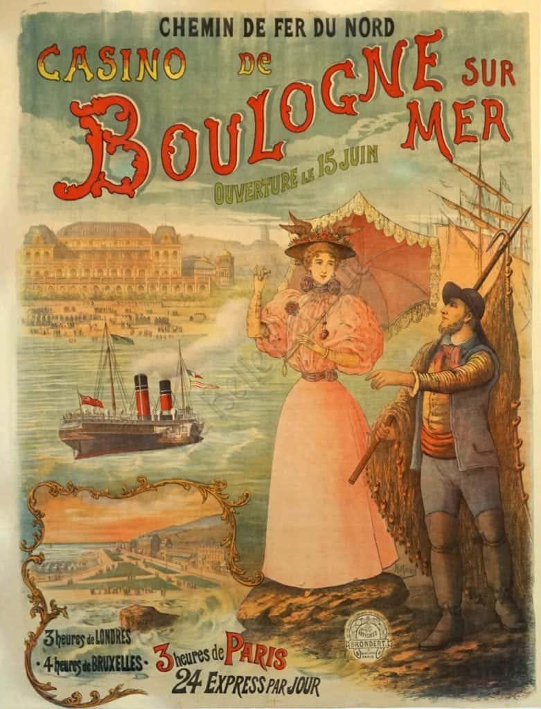 Casino De Boulogne Sur Mer Vintage Posters