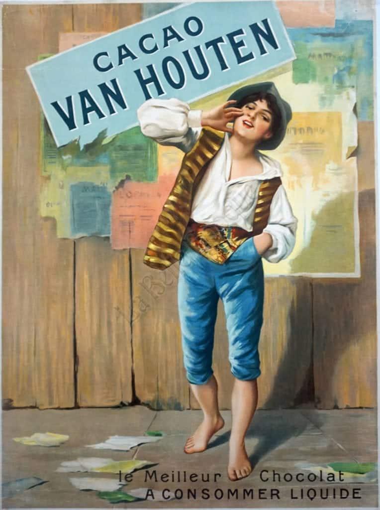 Cacao Van Houten Vintage Posters