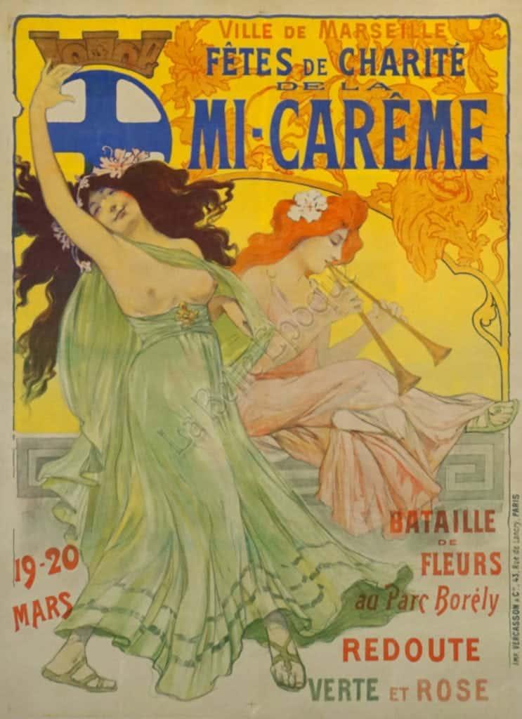 Fetes de Charite de la Mi Careme Vintage Posters