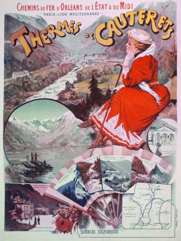 Thermes de Cauterets Vintage Posters