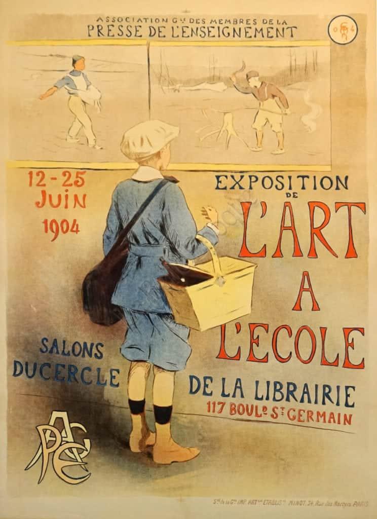L'Art A L'Ecole Vintage Posters