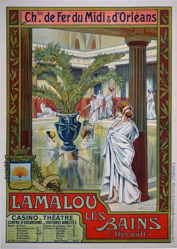 Lamalou les Bains Vintage Posters