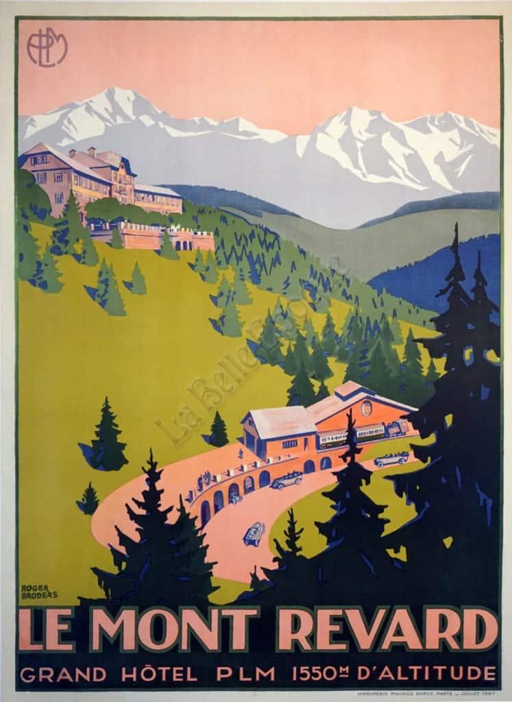 Le Mont Revard Vintage Posters