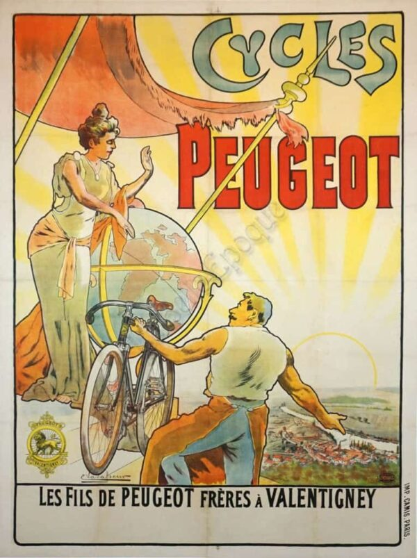 Cycles Peugeot Vintage Posters