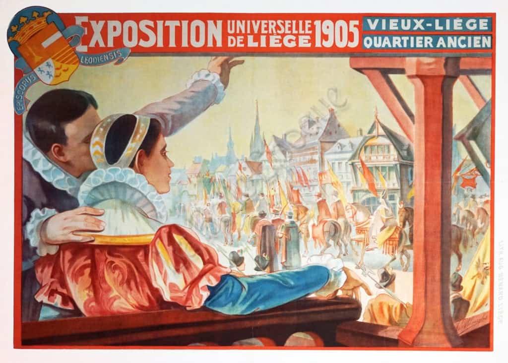 Exposition Universelle De Liege Vintage Posters