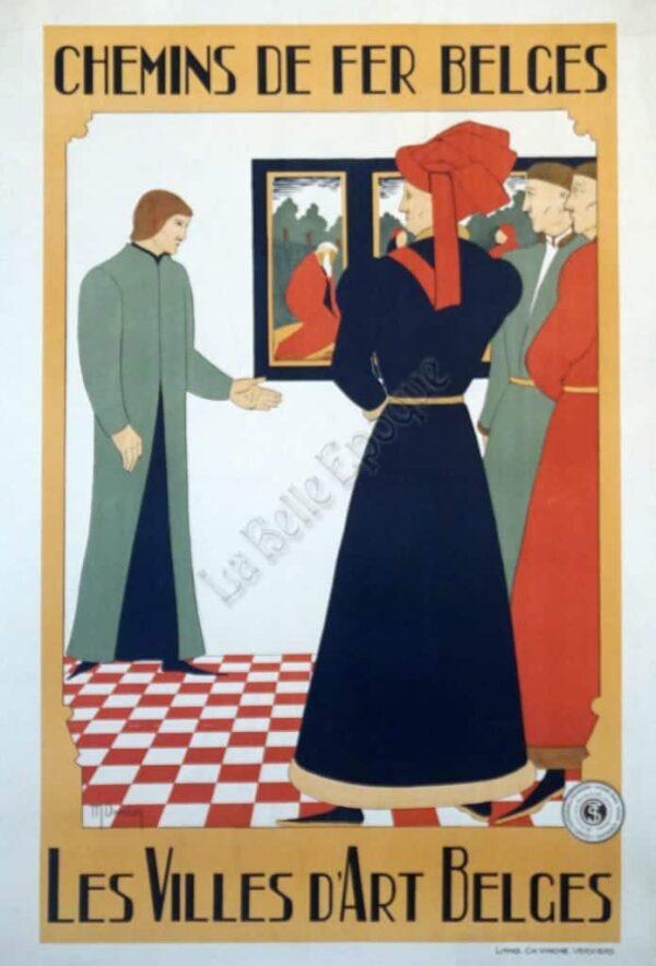 Chemins De Fer Belges Vintage Poster