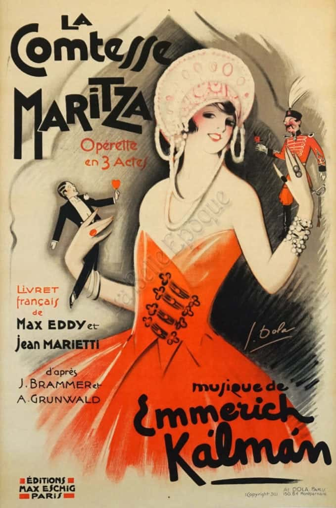 La Comtesse Maritza Vintage Posters