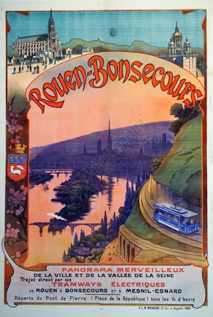Rouen-Bonsecours Vintage Posters
