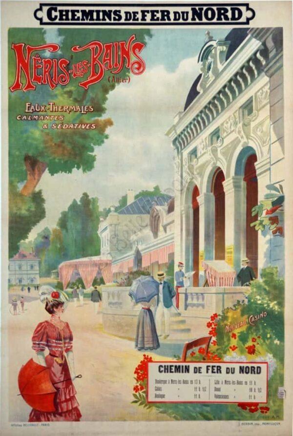 Neris les Bains Vintage Posters