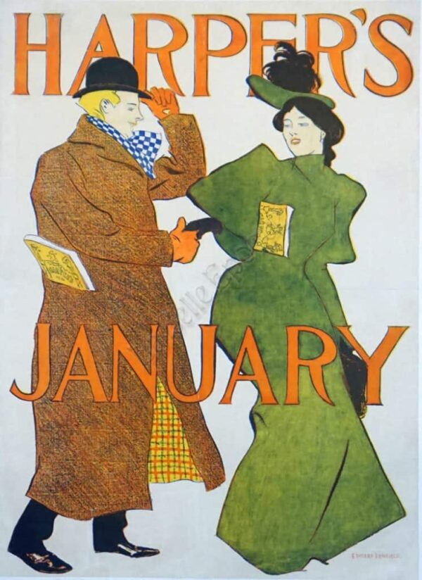 Harper's January Vintage Posters