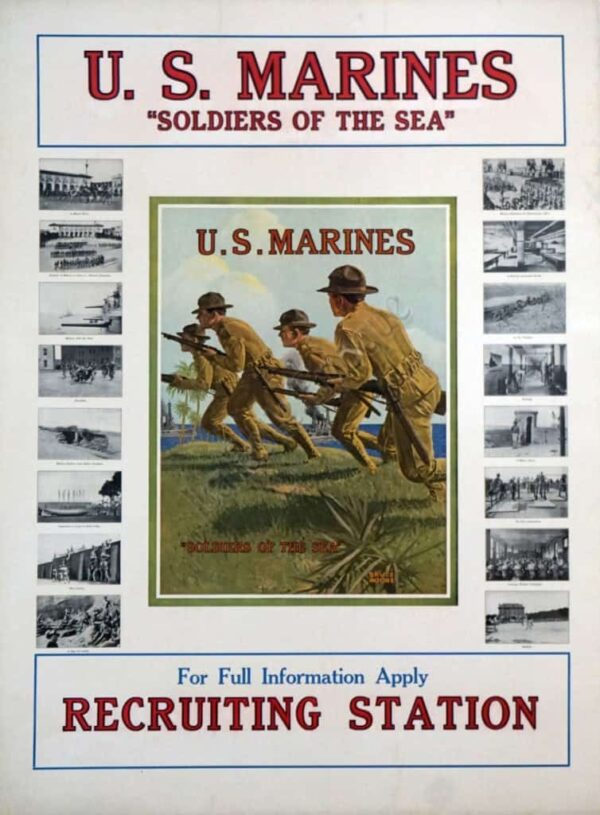 US Marines Soldiers of the Sea Vintage Posters