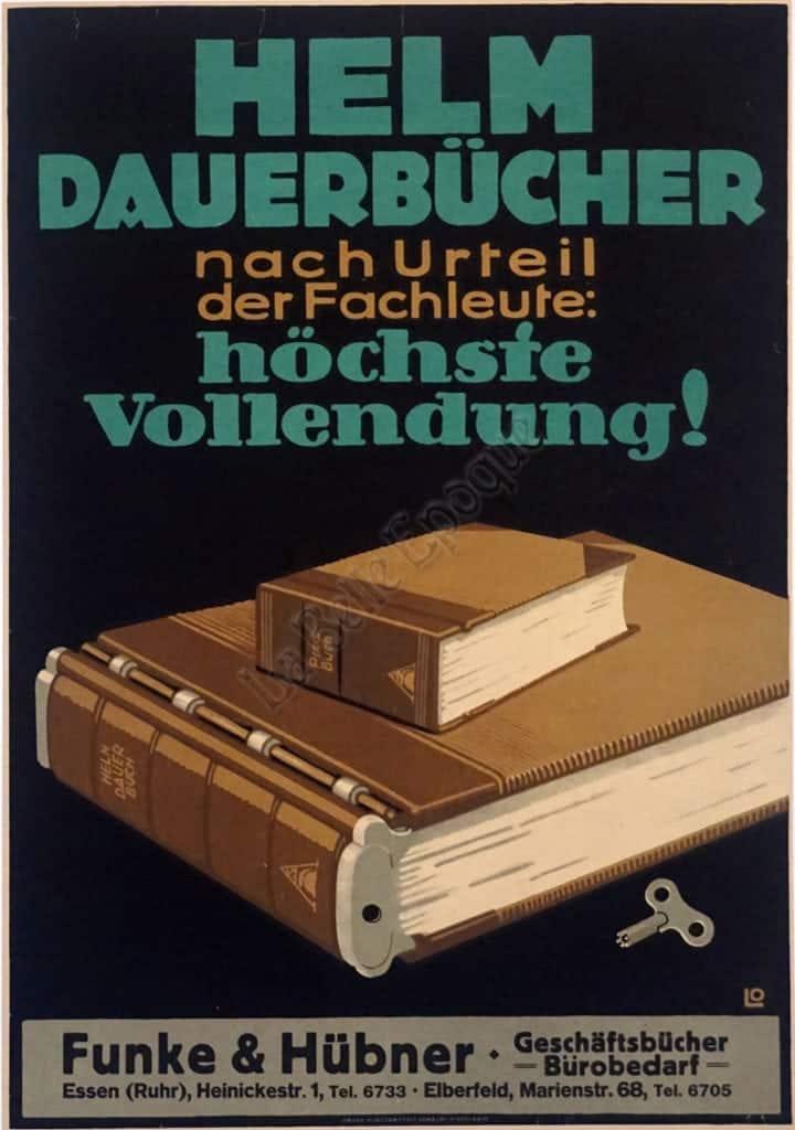 Helm Dauerbucher nach Urteil der Fachleute: hochste Vollendung Vintage Posters