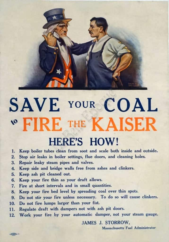 Save your Coal to Fire the Kaiser Vintage Posters