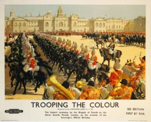 Trooping the Colour Vintage Posters