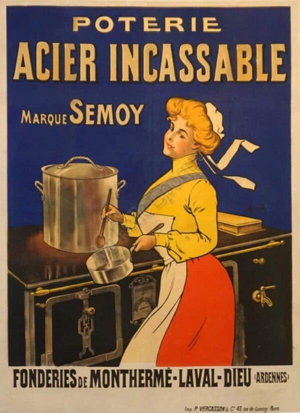 Poterie Acier Incassable Vintage Posters