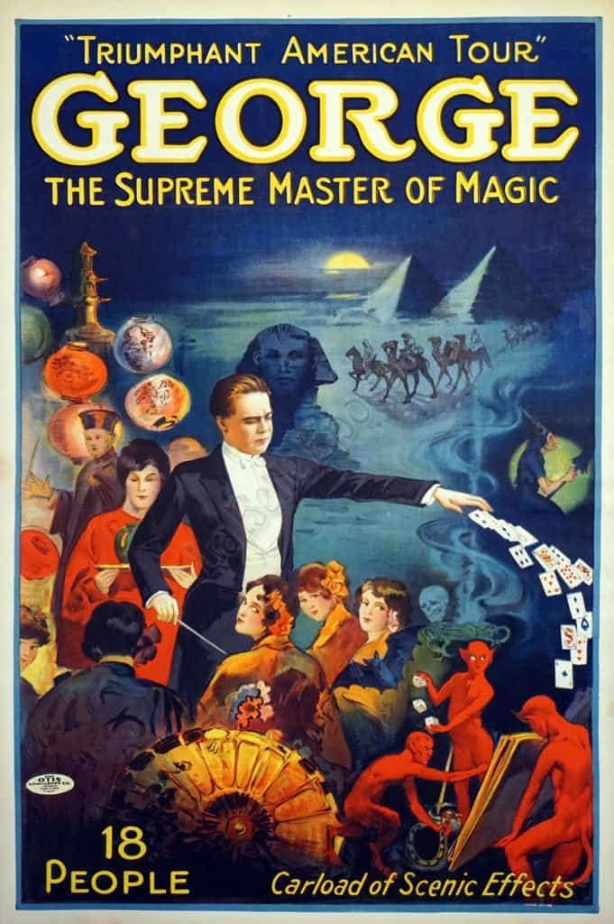 Triumphant American Tour George The Supreme Master of Magic Vintage Posters